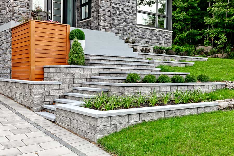 retaining wall supplier Bellevue